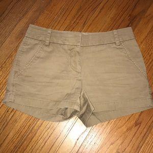J-Crew chino shorts